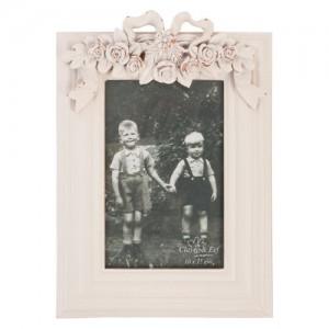 """Rama foto """"Roses & Ribbon"""" 10*15 cm, Clayre & Eef"""