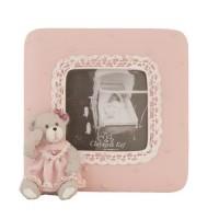 "Rama foto ""Teddy Bear Pink"" 5*5 cm, Clayre & Eef"