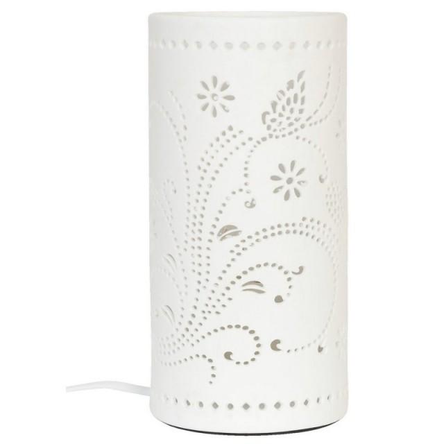 "Veioza din ceramica ""Flowers & Butterflies"", Clayre & Eef"