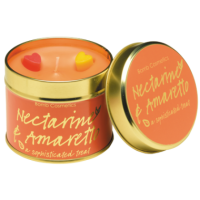 Tin Candle Nectarine & Amaretto