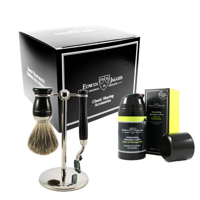 Edwin Jagger Set 4 piese si Aftershave Limes&Pomegranate