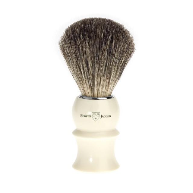 Edwin Jagger Pamatuf pentru barbierit Ivory Sculpture, Pure Badger