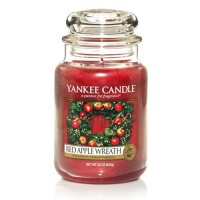 Lumanare Parfumata Borcan Mare Red Apple Wreath, Yankee Candle