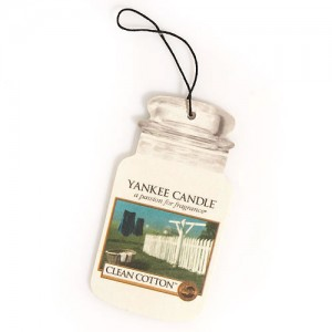 Odorizant Auto Car Jar Clean Cotton, Yankee Candle