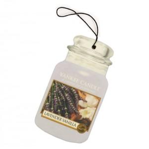Odorizant Auto Car Jar Lavender Vanilla, Yankee Candle