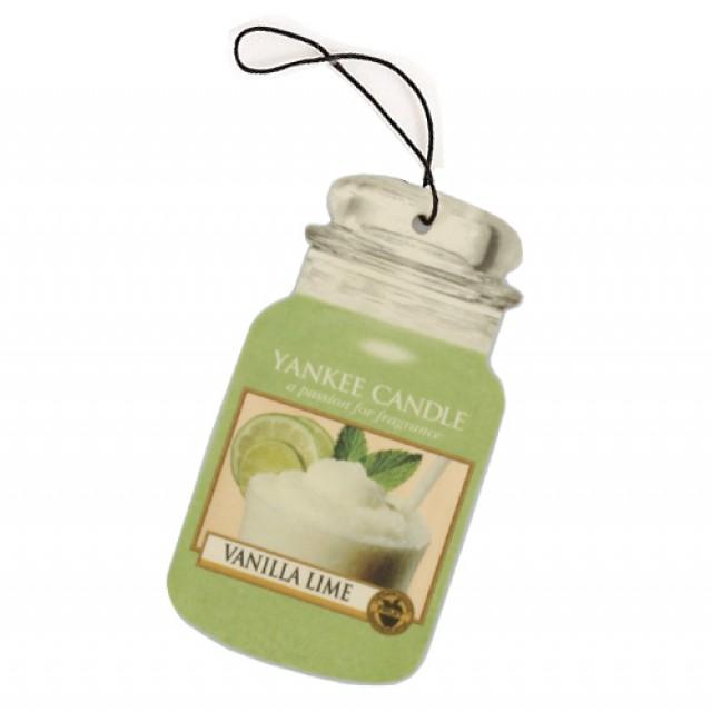 Odorizant Auto Car Jar Vanilla Lime, Yankee Candle