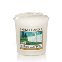 Lumanare Parfumata Votive Clean Cotton, Yankee Candle