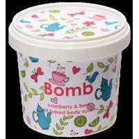 Exfoliant Vegan pentru corp Cranberry & Lime, Bomb Cosmetics