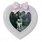"Rama foto ""White Heart"" 8*8 cm, Clayre & Eef"