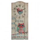 """Ceas de perete """"Owl Love"""" 30*4*70 cm, Clayre & Eef"""