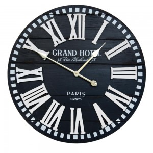 "Ceas ""Grand Hotel, Rue Montartre 58"" Ø 60*5 cm, Clayre & Eef"