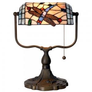 Lampa pentru birou Tiffany, 27x20x36 cm, 1x E27 / Max 60W, Clayre & Eef