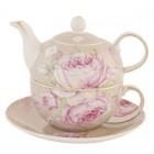 """Tea for One """"Rose from Paris"""", Clayre & Eef"""
