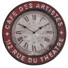 """Ceas """"Cafe des Artistes"""" Ø 48*4 cm, Clayre & Eef"""