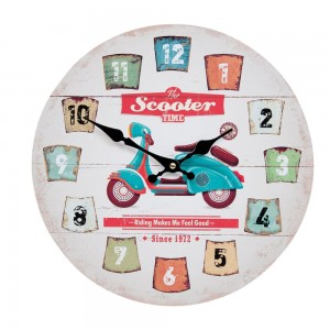 "Ceas ""Scooter Time"" Ø 33*3 cm, Clayre & Eef"