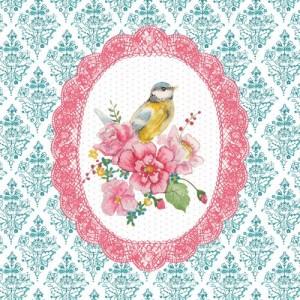 """Felicitare """"Pink Bird"""", Clayre & Eef"""
