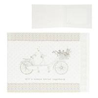 """Felicitare """"Pastel Bike"""", Clayre & Eef"""
