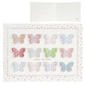"""Felicitare """"Pastel Butterflies"""", Clayre & Eef"""