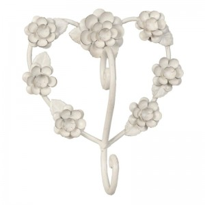 """Cuier """"Rustic White Flowers"""", Clayre & Eef"""