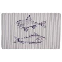 """Covoras de intrare """"Fish"""" 74x44 cm, Clayre & Eef"""