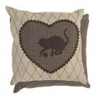 """Perna decorativa """"I love cats"""" 50*50 cm, Clayre & Eef"""