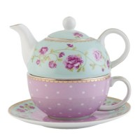 "Tea for One ""Roses in Pastel"", Clayre & Eef"