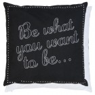 "Fata de perna ""Be What You Want"" 40*40 cm, Clayre & Eef"