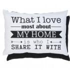 "Fata de perna ""My Home"" 35*50 cm, Clayre & Eef"
