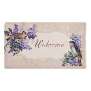 Covoras de intrare Lilac and Birds, 74x44 cm, Clayre & Eef