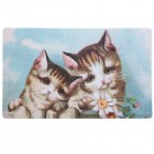 Covoras de intrare Kittens, 74x44 cm, Clayre & Eef