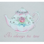 "Covoras de intrare ""Tea Time"" 74x44 cm, Clayre & Eef"
