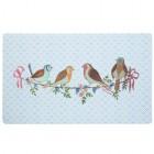 Covoras de intrare Singing Birds, 74x44 cm, Clayre & Eef