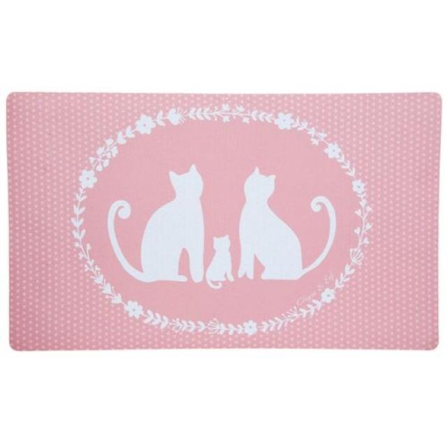 "Covoras de intrare ""Cat Family"" 74x44 cm, Clayre & Eef"