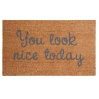 Covoras de intrare You Look Nice Today, 75x45 cm, Clayre & Eef