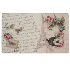 "Covoras de intrare ""Postcard from Paris"" 74x44 cm, Clayre & Eef"