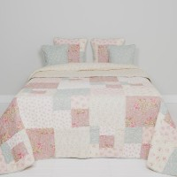 "Cuvertura ""Pink Squares"" 180*260 cm, Clayre & Eef"