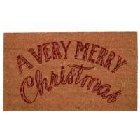 """Covoras de intrare """"Merry Christmas"""" 75x45 cm, Clayre & Eef"""