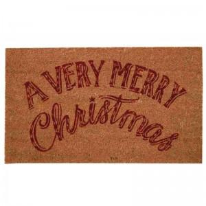 Covoras de intrare, A Very Merry Christmas, 75x45 cm, Clayre & Eef