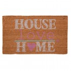 "Covoras de intrare ""House Love Home "" 75x45 cm, Clayre & Eef"