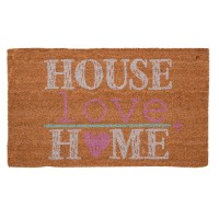 "Covoras de intrare ""Home Love"" 75x45 cm, Clayre & Eef"