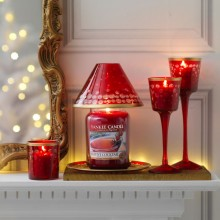 Accesoriu Borcan Mare/Mediu Red and Gold Snowfall, Yankee Candle