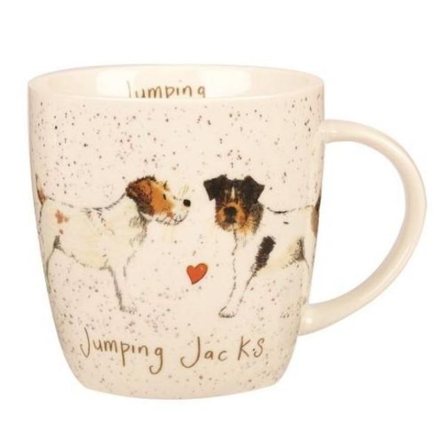 "Cana din portelan Alex Clark Delightful Dogs ""Jumping Jacks"" 400ml, Churchill"