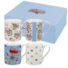 "Set 4 cani The Caravan Trail ""Hippy Floral Giftset"" 250ml, Churchill"