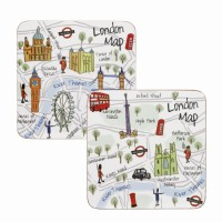 Set coasters London Maps