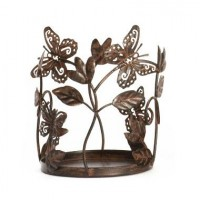 Suport Large/ Medium Jar - Bronze Butterfly