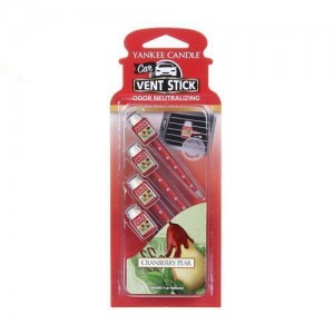 Odorizant Auto Vent Stick Cranberry Pear, Yankee Candle
