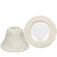 Accesoriu Large/ Medium Jar - Clear Glass Bubble Mosaic