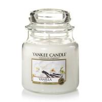 Lumanare Parfumata Borcan Mediu Vanilla, Yankee Candle