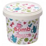 Exfoliant Vegan pentru corp Cranberry & Lime, Bomb Cosmetics, 365ml