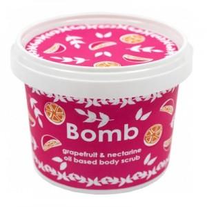Exfoliant Vegan pentru corp Grapefruit & Nectarine Bomb Cosmetics, 365ml